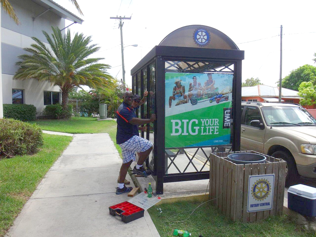 Rotary Central Cayman Bus Shelter