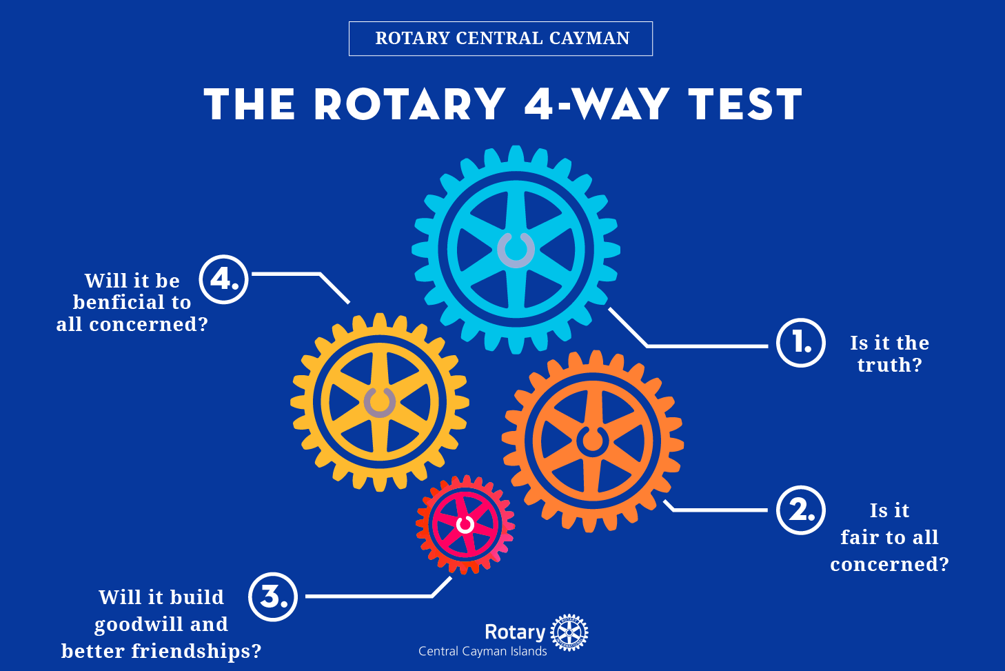 Rotary The Four Way Test Rotary Central Cayman Islands